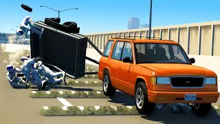 SPEED BUMP HIGH SPEED CRASHES & DUMMY EJECTIONS! - BeamNG Drive Crash Test Compilation Gameplay
