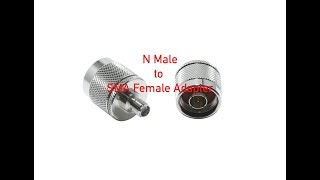 N Male to SMA Female Adapter # 1583