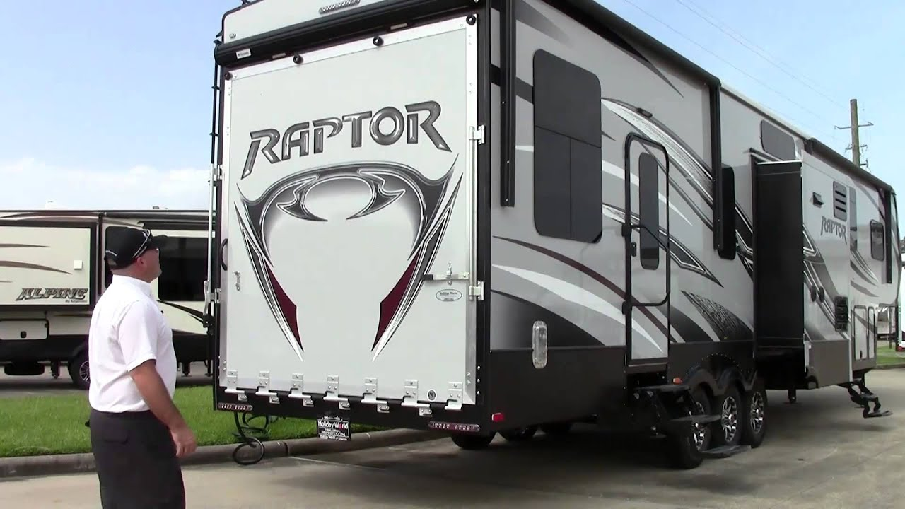 new 2015 keystone raptor 412ts fifth wheel toy hauler rv holiday world of houston dallas
