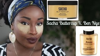 Sacha Buttercup V. Ben Nye Banana Powder I Demo I Beyoncé ticket giveaway