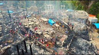 Сгорела деревня. Интервью. Остров Сумба. Индонезия. Бали.