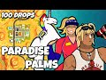 I Dropped Paradise Palms 100 Times and This Is What Happened (Fortnite)