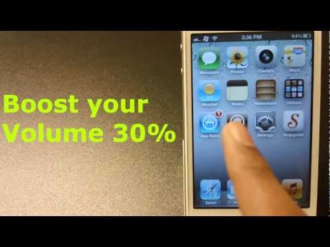 How To Boost Your Volume By 30% For IPhone/iPad/iPod Touch
