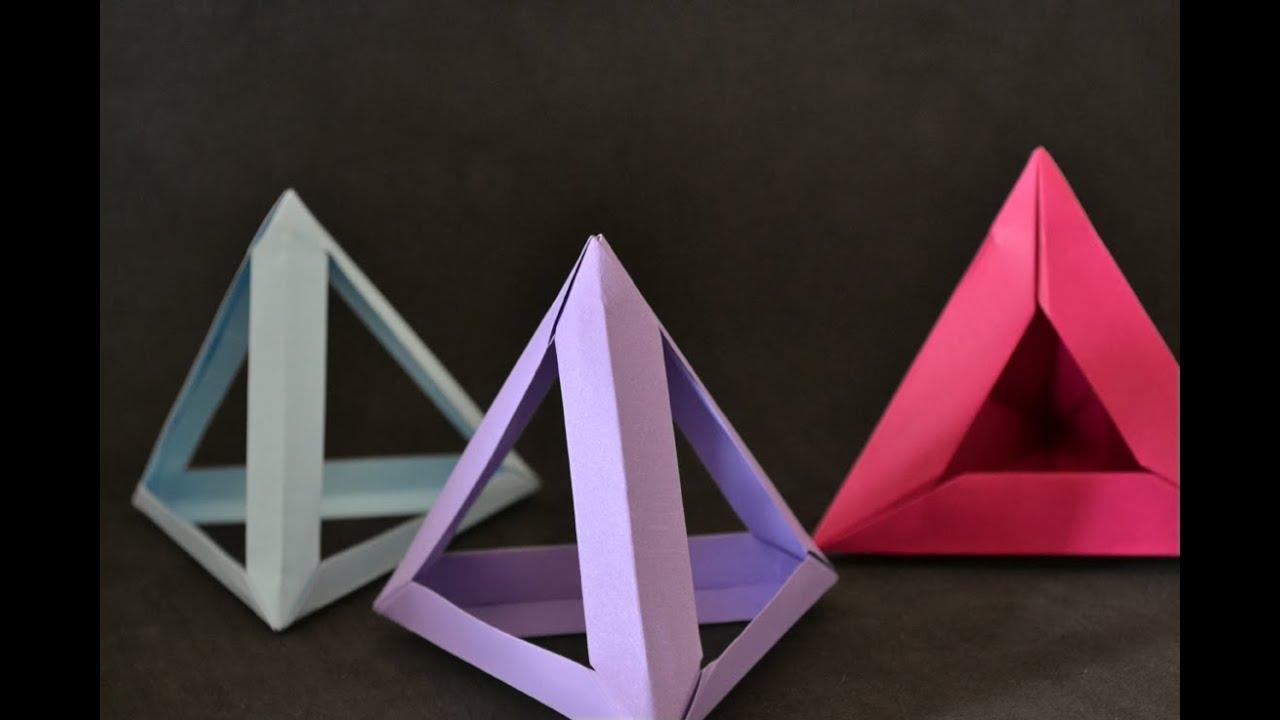 origami tetrahedron youtube