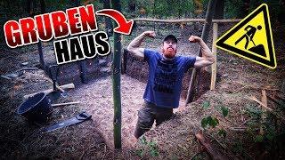 GRUBENHAUS Bushcraft Shelter #002 - Lagerbau - Outdoor Bushcraft Camp | Fritz Meinecke
