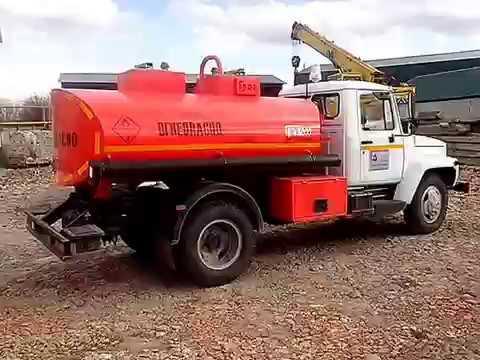 ХИТ MIX Бензовоз (заправщик) ГАЗ-3309 АТЗ-4.9 ГРАЗ / Automobile Fuel Tanker