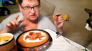 Русский мукбанг Обжор сладеньким Мукбанг торт Разговоры во время еды Mukbang not ASMR