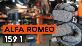 How to change rear brake pads on ALFA ROMEO 159 (939) [TUTORIAL AUTODOC]