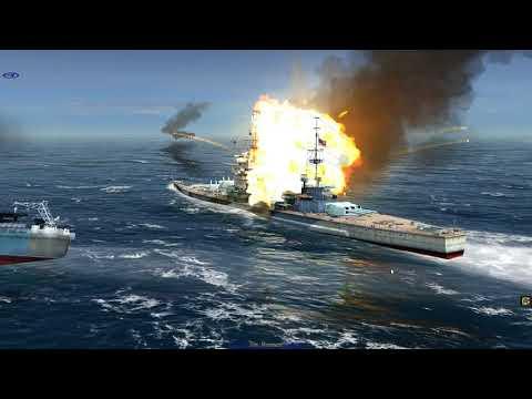 Atlantic Fleet DKM Hutten and Bismarck Vs HMS Lion and USS North Carolina