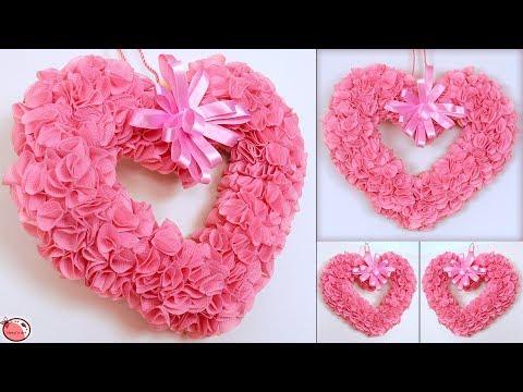 DIY - Heart Hanging || Best Out of Waste Room Decoration Idea