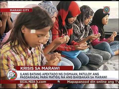 Mga batang 'bakwit', patuloy ang pagdarasal para sa Marawi
