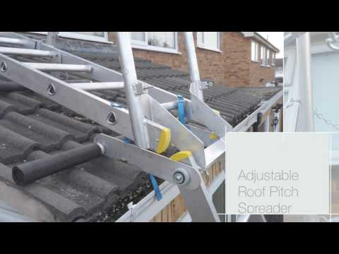 Sloping Roof System / Pitched Roof Ladder / Conservatory Ladder
