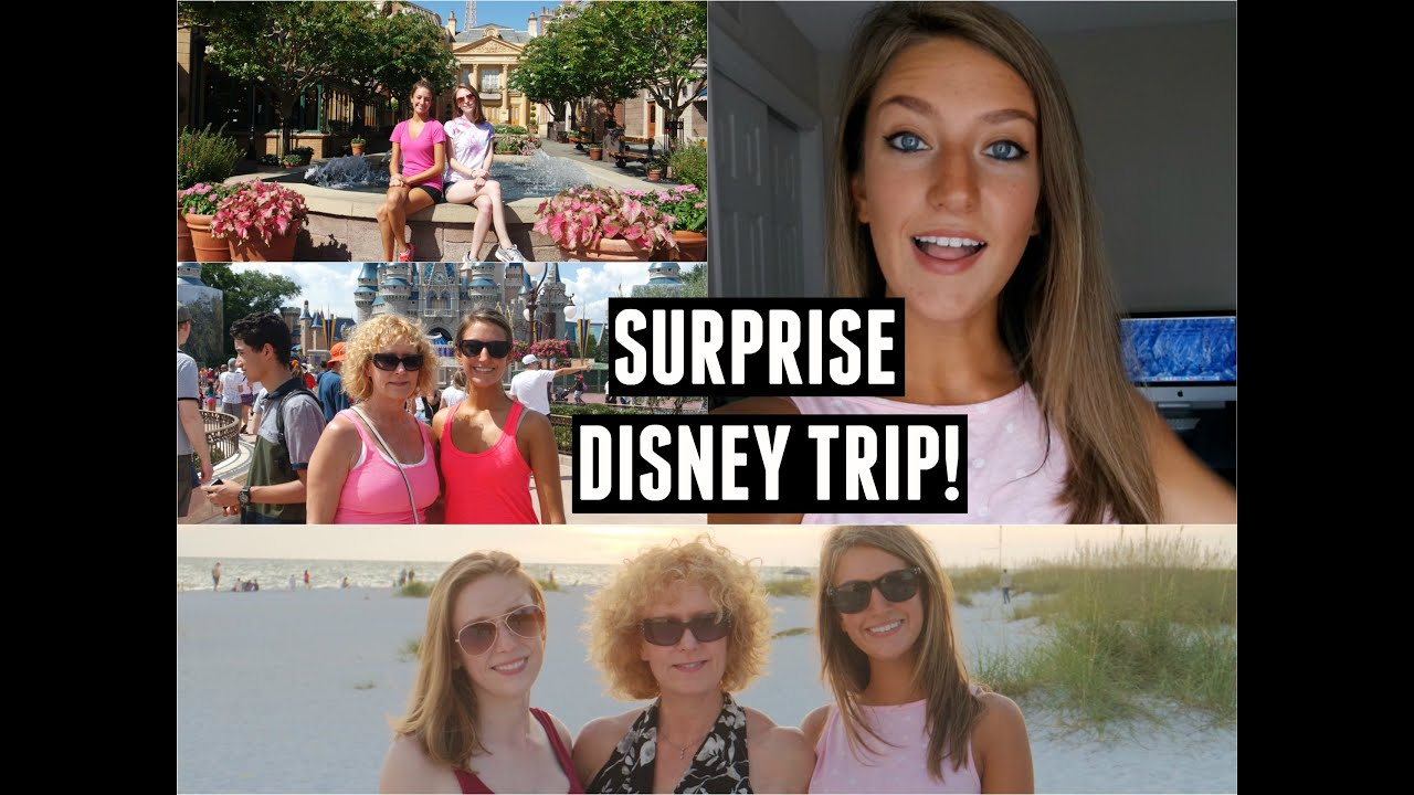 VLOG Family VisitingSurprise Disney Trip  YouTube