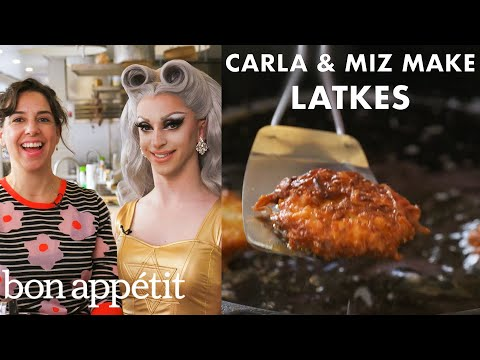 Miz Cracker and Carla Make Chanukah Latkes | From the Test Kitchen | Bon Apptit