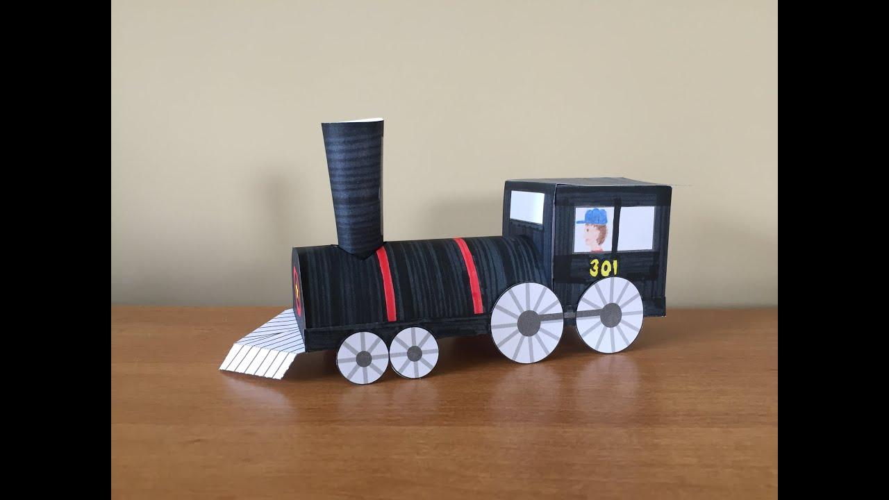 3d Paper Train Part 1 Locomotive