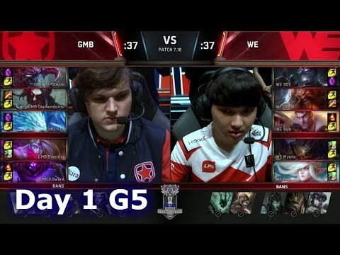Gambit vs Team WE | Day 1 of S7 LoL Worlds 2017 Play-in Stage | GMB vs WE G1