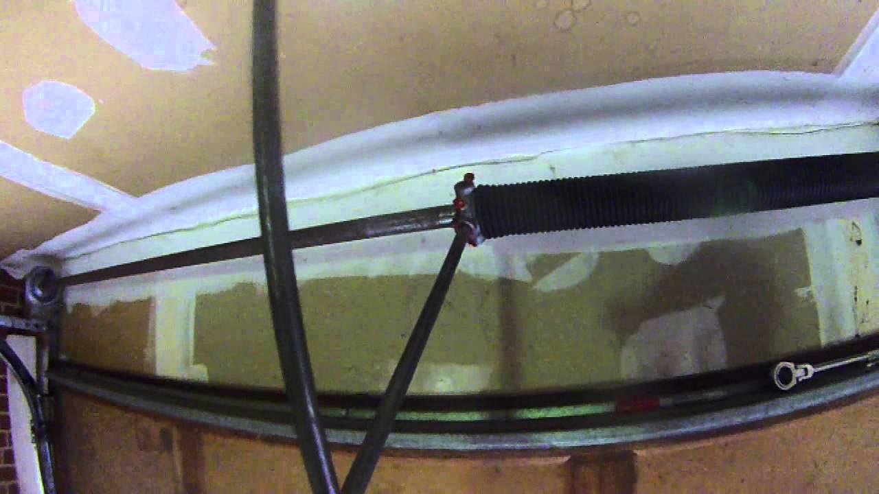Removing Broken Garage Door Torsion Spring Diy Part 2 Of