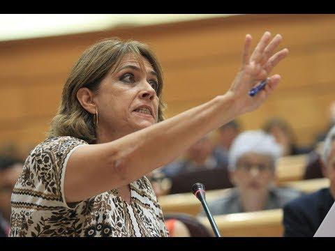 La ministra Delgado pierde los papeles en el Senado el día de su reprobación