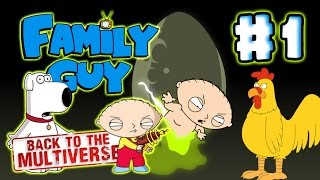 Family Guy: Back to the Multiverse Walkthrough Part 1 (PS3, X360, PC) No Commentary - Level 1
