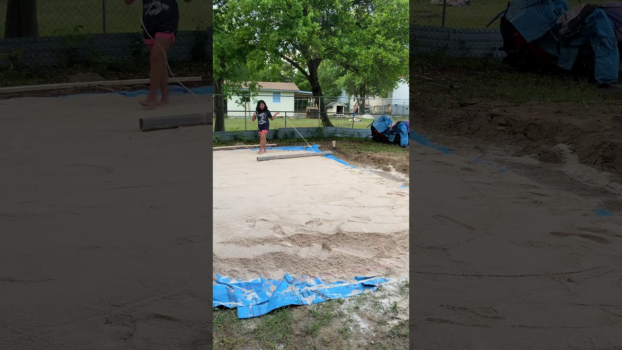 how to get sand out of intex pool