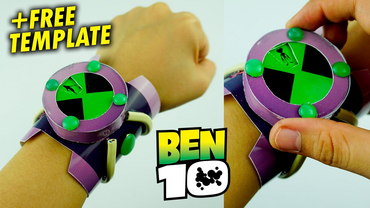 How To Make Functional Ben 10 Omnitrix With Paper Free Template Easy Diy Craft Youtube