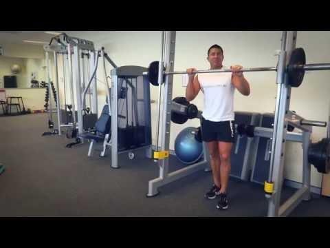 Smith Machine Front Squat (Exercises.com.au)