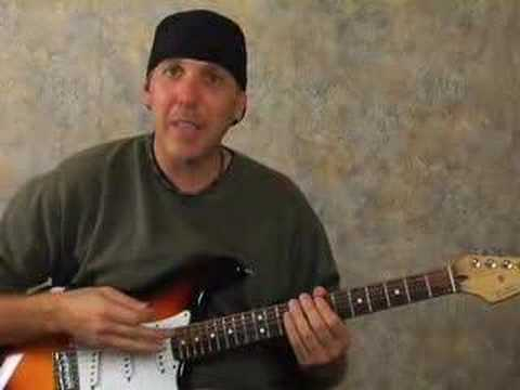 Electric lead guitar lesson passing notes scales jazz rock