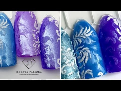 Frozen nails. Frozen effect nails. Frosted nail art tutorial. Best Winter nails ideas. Efekt frozen thumbnail