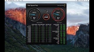 install blackmagic disk speed test on mac os sierra
