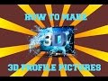 How To Make A 3D Profile Picture No Photoshop Required