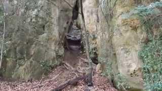 Larochette: uitzicht over Larochette (Luxemburg)