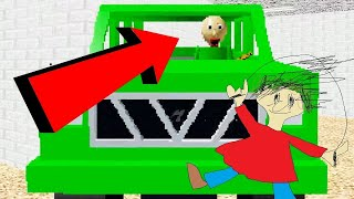 BALDI DRIVES A CAR | Baldi's Basics MOD: Baldi Likes Cars