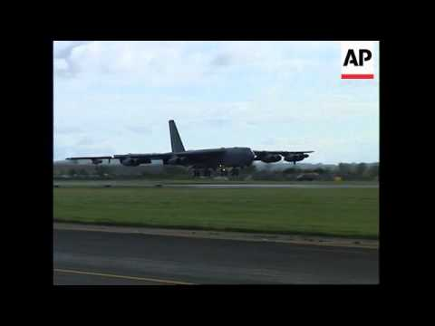 UK: AMERICAN B-52 BOMBERS FLY IN TO RAF FAIRFORD