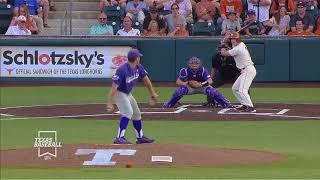 Texas Baseball vs TCU Game 2 LHN Highlights [May 18, 2018]