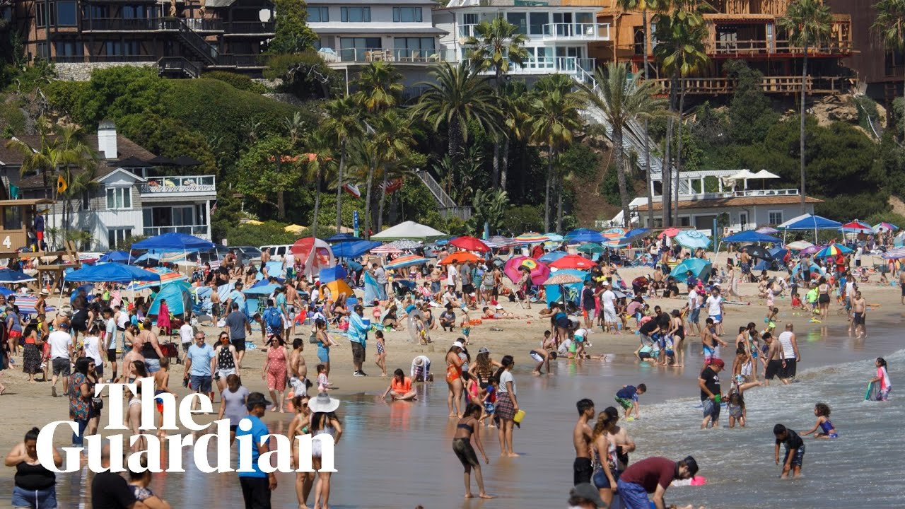 Californians pack beaches on Memorial Day weekend, defying social distancing rules
