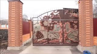 откатные кованые ворота(, 2014-01-13T22:56:08.000Z)