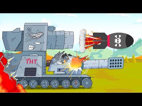 Tanks attacked the enemy. Tank for kids. World of tanks cartoon. Monster Truck Cartoons for children