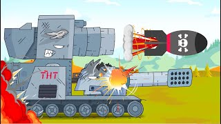 Tanks attacked the enemy. Tank for kids. World of tanks cartoon. Monster Truck Cartoons for children