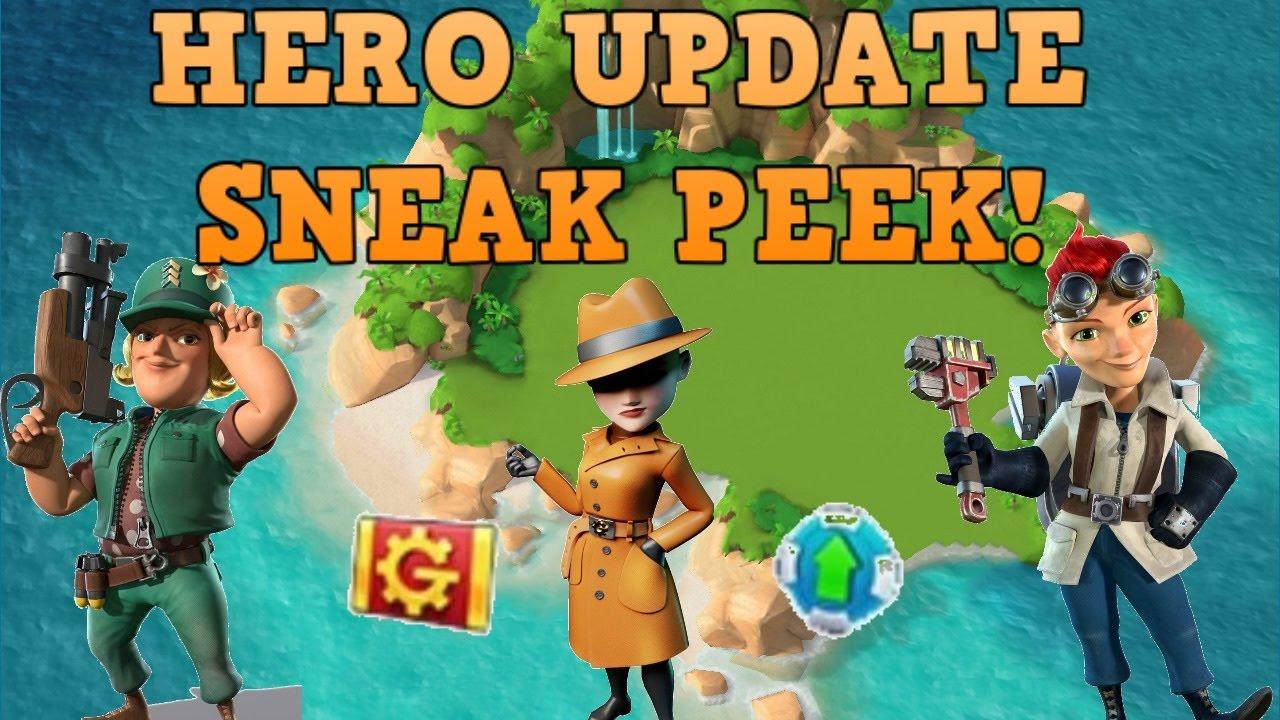 Boom Beach Hero Update Sneak K