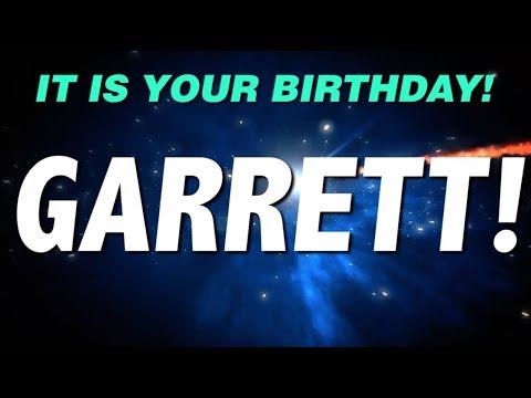 HAPPY BIRTHDAY GARRETT! This is your gift.