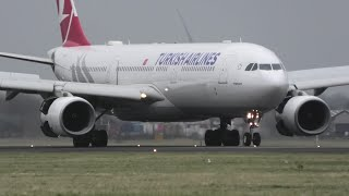 Turkish Airlines Airbus A330-300 From Istanbul At Schiphol Airport, Amsterdam