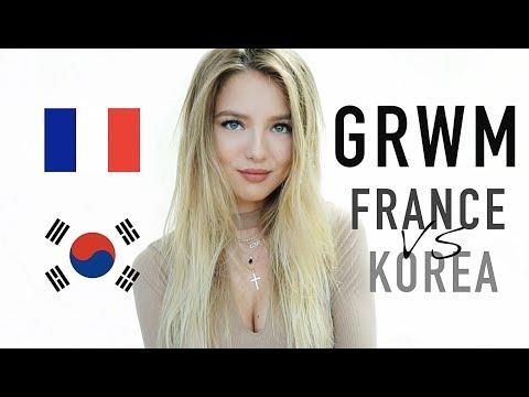 GRWM : FRANCE vs KOREA (English subtitles) | SleepingBeauty