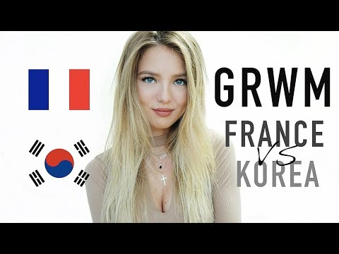 GRWM : FRANCE vs KOREA (English subtitles) | SleepingBeauty