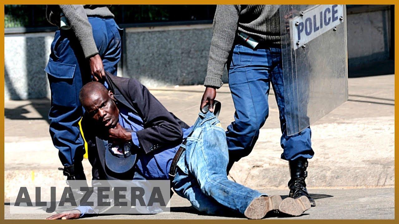 AlJazeera English:Analysis: Zimbabwe police violently break up protests after court ban