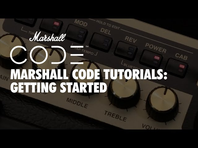 Marshall CODE Tutorials: CODE - Getting Started