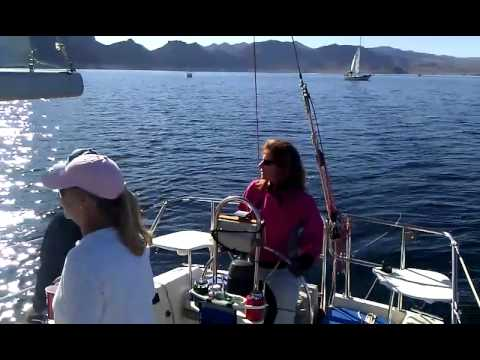 Sailing on Winsornot on Lake Mead, January 1, 2012