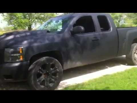 Rhino Truck Bed Liner >> Rhino Lined Silverado with 4 Digital Design 12s - YouTube