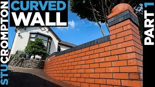 Bricklaying - Curved Garden wall part 1