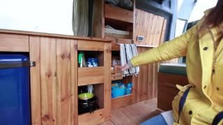 Video Tour of Sandy the VW Campervan, based in Swansea, Wales