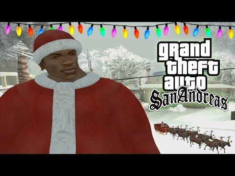 GTA San Andreas Snowy Christmas Speedrun